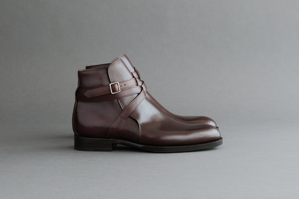 ZeroThreeFour.Jodhpur IX Calf Leather Jodhpur Boots with Hatch Grain Straps