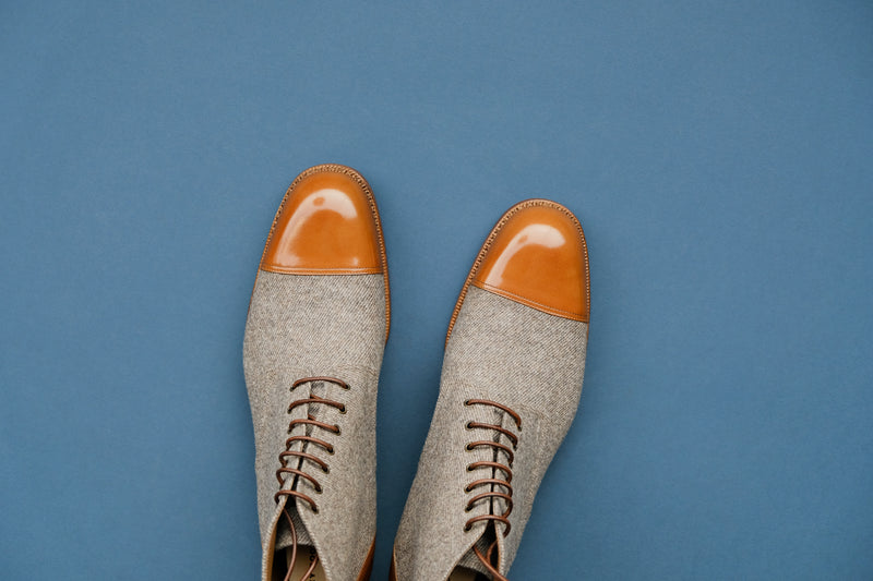 ZeroZeroOne.Sohi II Derby Boots from Calf Leather and Wool
