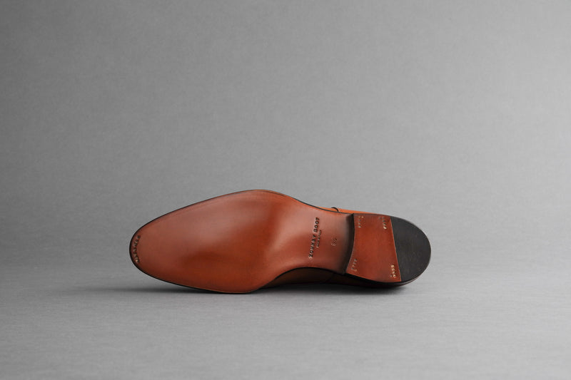 ZeroFiveThree.Havana Toe-Cap Derby Shoes from Bavarian Calf