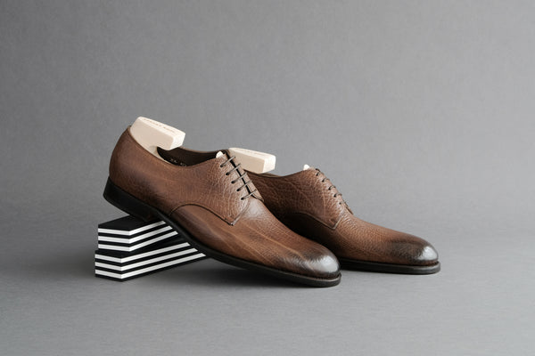 OneTwoSeven.Woodbrown Derby Shoes
