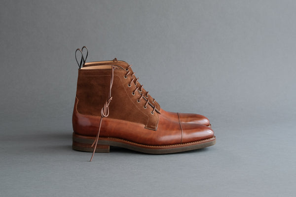 TwoFourZero.Cheval Field Boots From Horse Leather and Calf Suede
