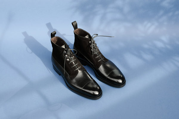 TwoFourOne.Nero Derby Boots from Russian Reindeer