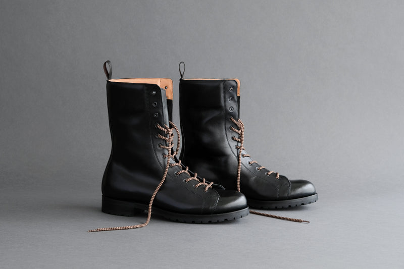 TwoFiveFive.Parachute Military Boots From Horse Leather