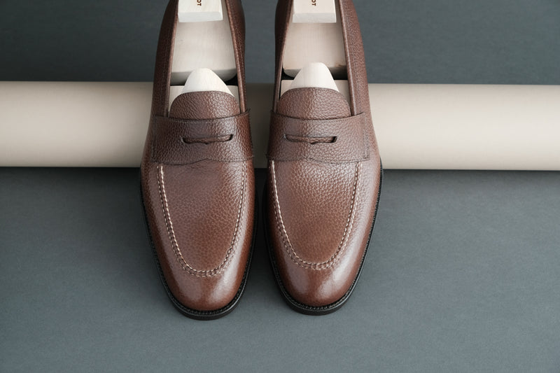 ZeroThreeEight.Miles Penny Loafers from Bavarian Grain Calf