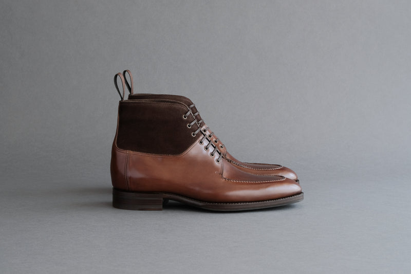 TwoThreeEight.Wien Split-Toe Derby Boots From Bavarian Calf and Suede