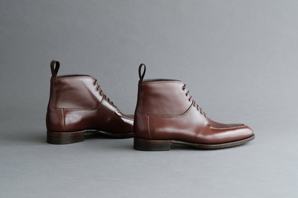 TwoThreeEight.Henry Split-Toe Derby Boots From Russian Reindeer