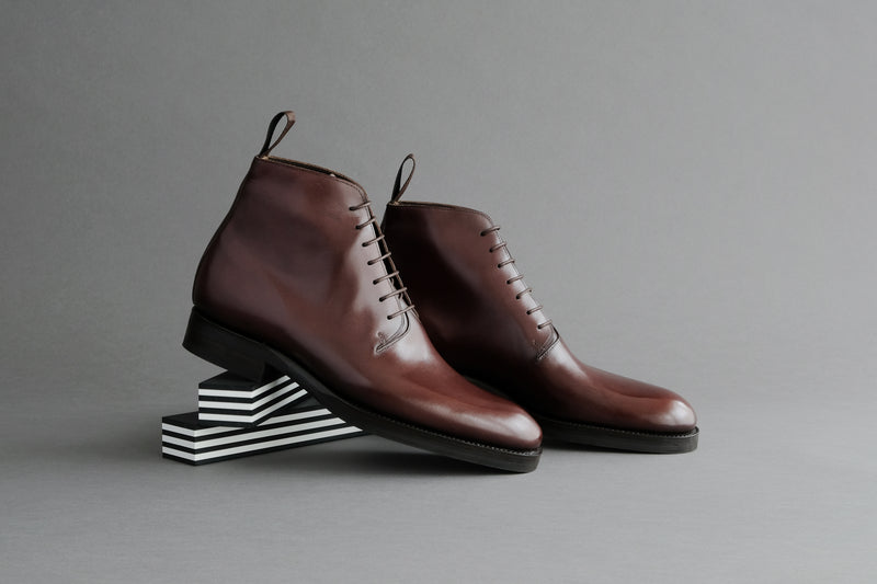 TwoThreeOne.Homer Wholecut Derby Boots From Bavarian Calf
