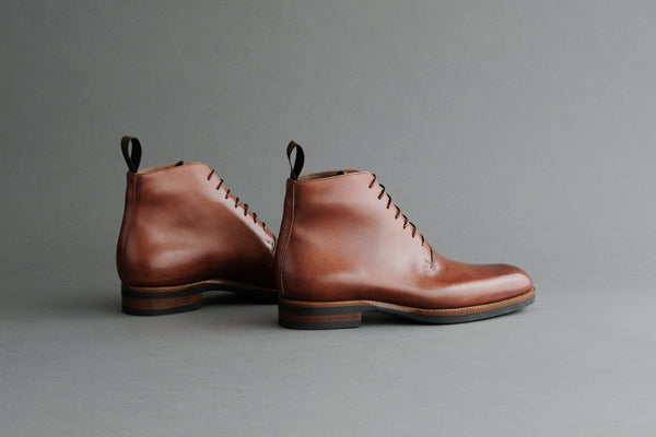TwoThreeOne.Work II Wholecut Derby Boots from Russian Calf