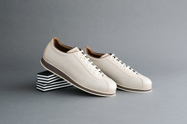 OneEightSeven.Ricegrain Sneakers from Calf Leather and Canvas