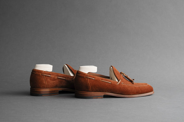 ZeroSixOne.Noah Suede Tassel Loafers From Calf Suede