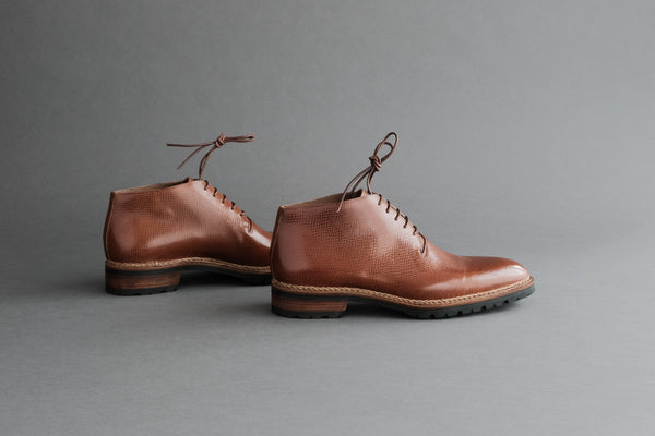 TwoFourNine.Dieter Wholecut Derby Boots From Russian Reindeer