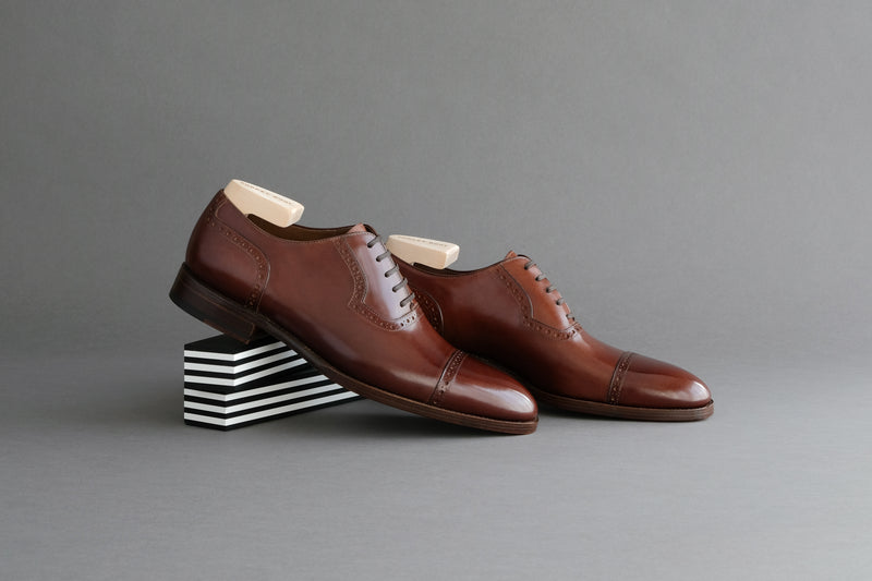 OneFourZero.Hockney Quarter Brogues in Bavarian Calf