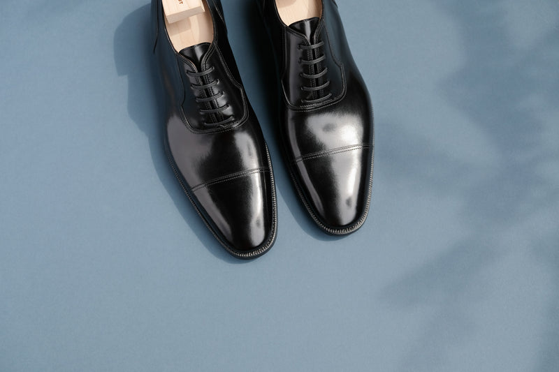 OneThreeNine.Evening Black Toe-Cap Oxfords