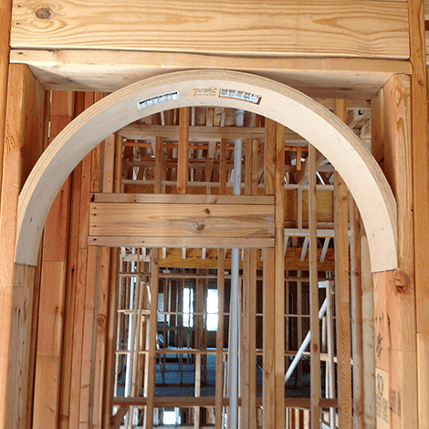 Extreme Makeover Home - Framing an archway