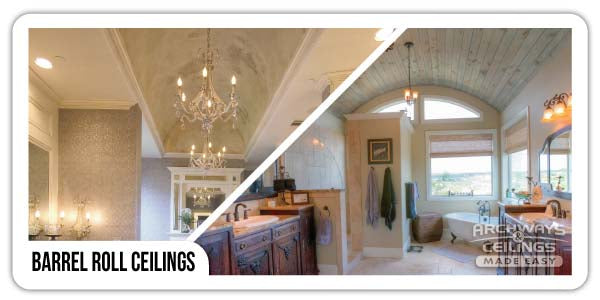 Master bathroom barrel ceilings