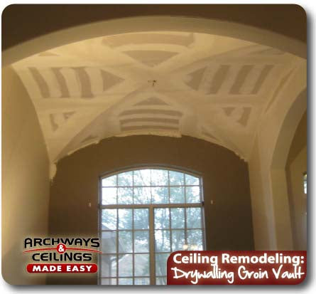 Finish the groin vault ceiling with texture and paint.