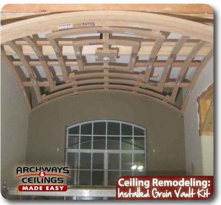 Admire your hard work after installing a groin vault.