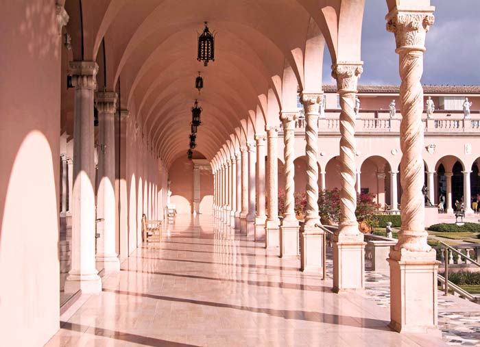 Groin Vault Ceiling in Ringling Museum Courtyard Loggia