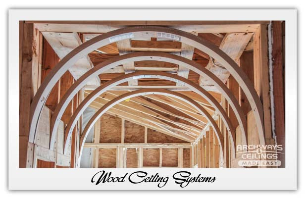 Barrel Wood Ceiling System