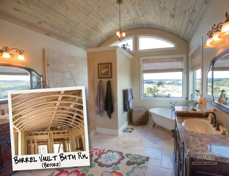barrel vault in bathroom
