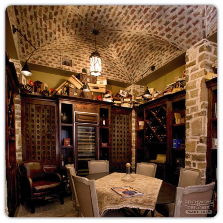 Basement Ceiling Idea: Vaulted Wine Cellar