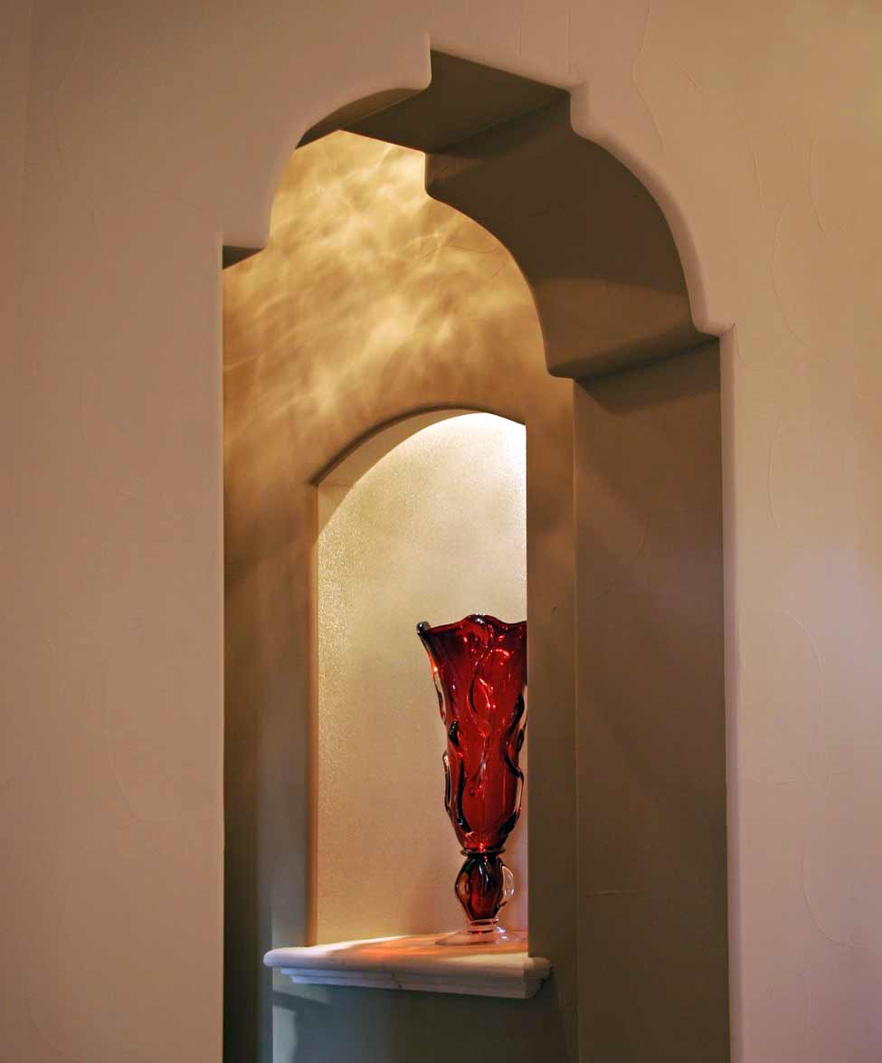 Spanish Corbel Arch with arched wall niche