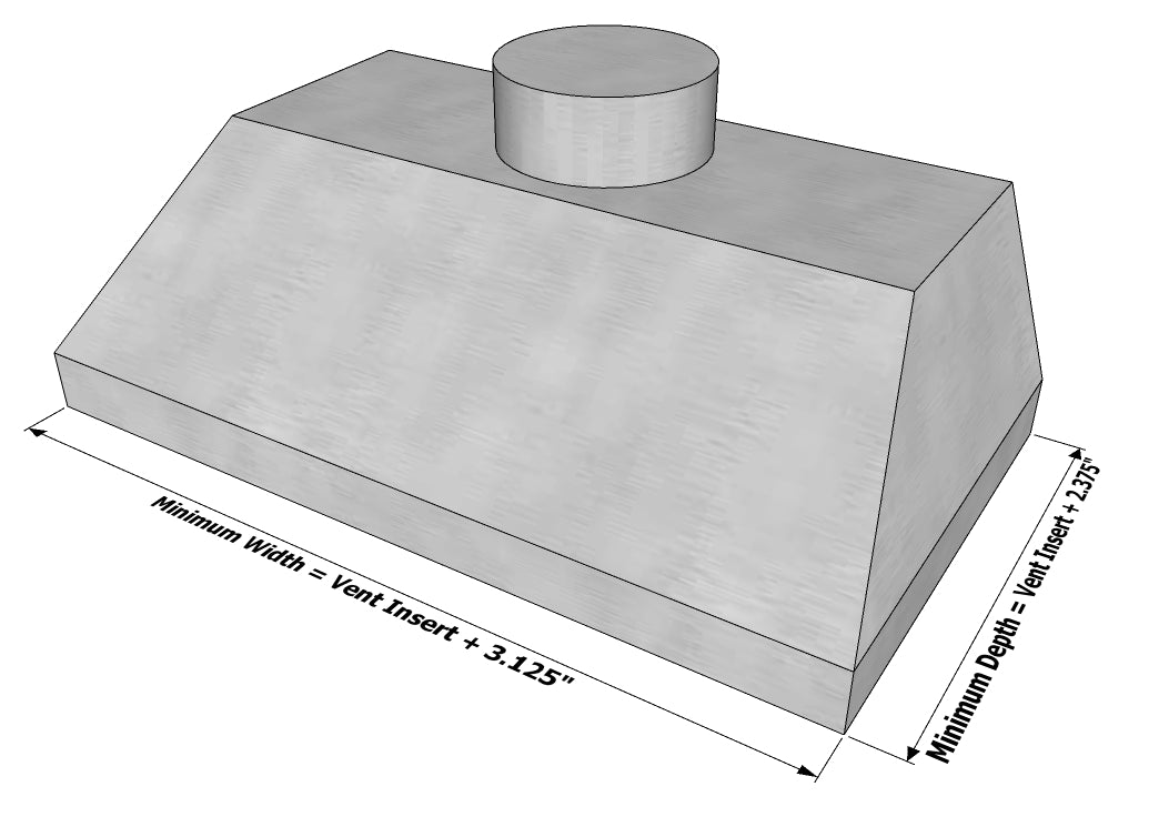 Measuring Your Range Vent Insert