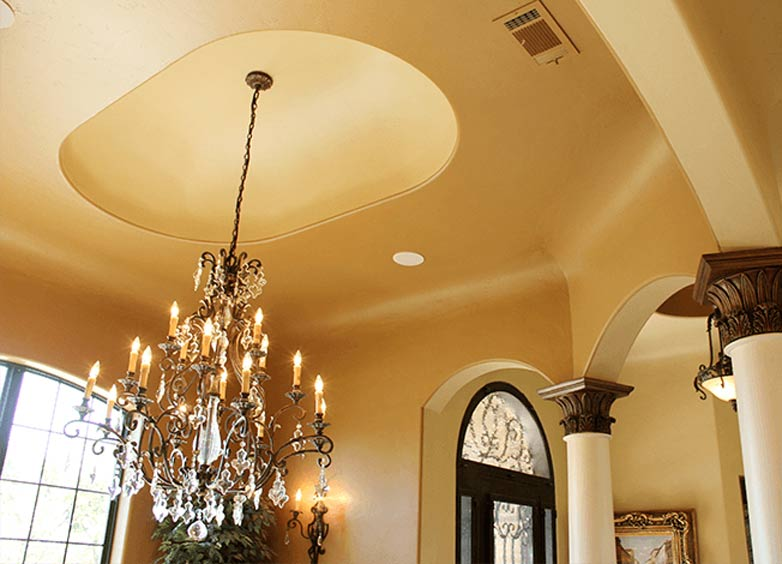 Elongated Dome Ceiling In The Dining Room