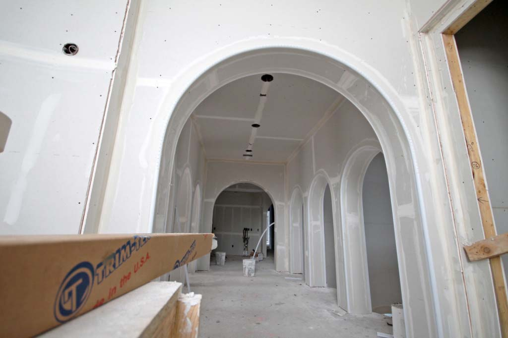 bull nose drywall arch