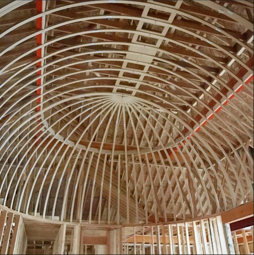 Elongated Dome Ceiling In A Great Room