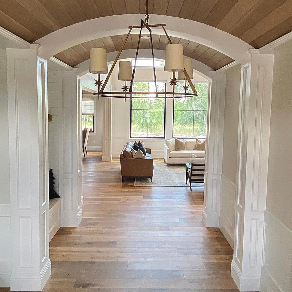 Farmhouse Kitchen with Archway Entry