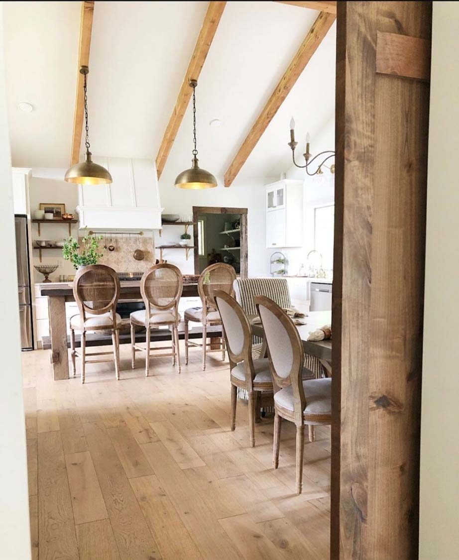 Farmhouse Kitchen w/ Vaulted Ceilings