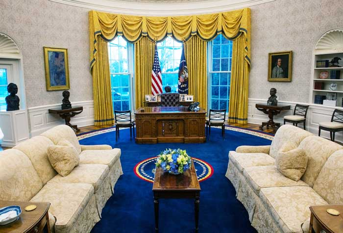 The Oval Office is a great example of Federal-style interior