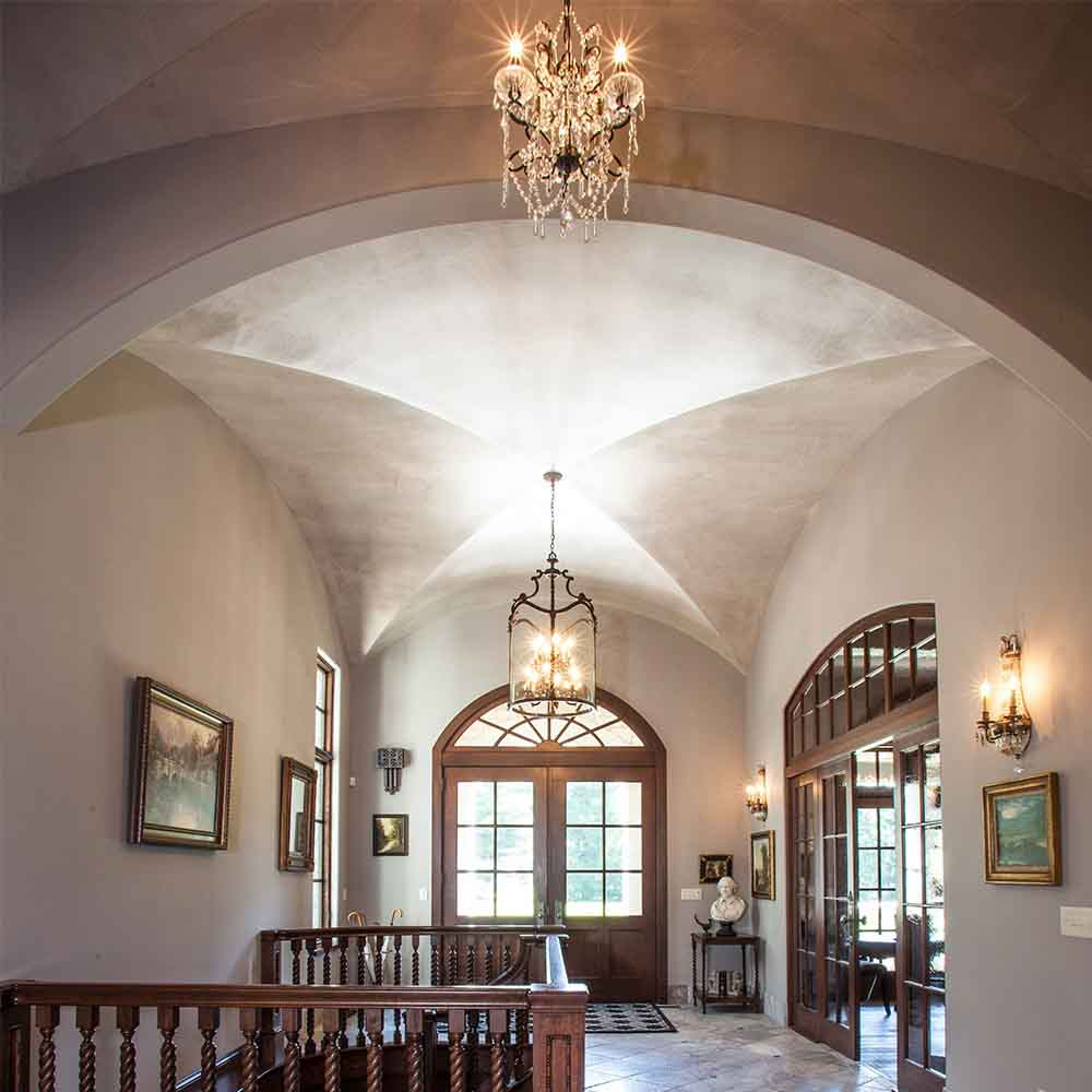 Groin Vault in Foyer Tuscan Style Makeover