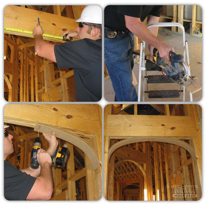 Framing an arch the easy way