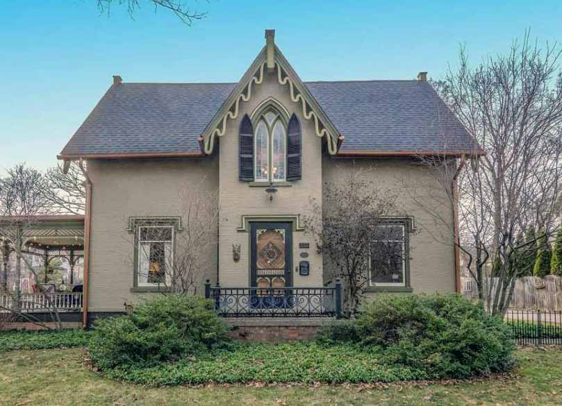 Gothic Victorian Home With Lancet Windows