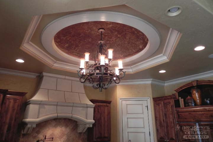 Dome Ceiling Above A Kitchen Island