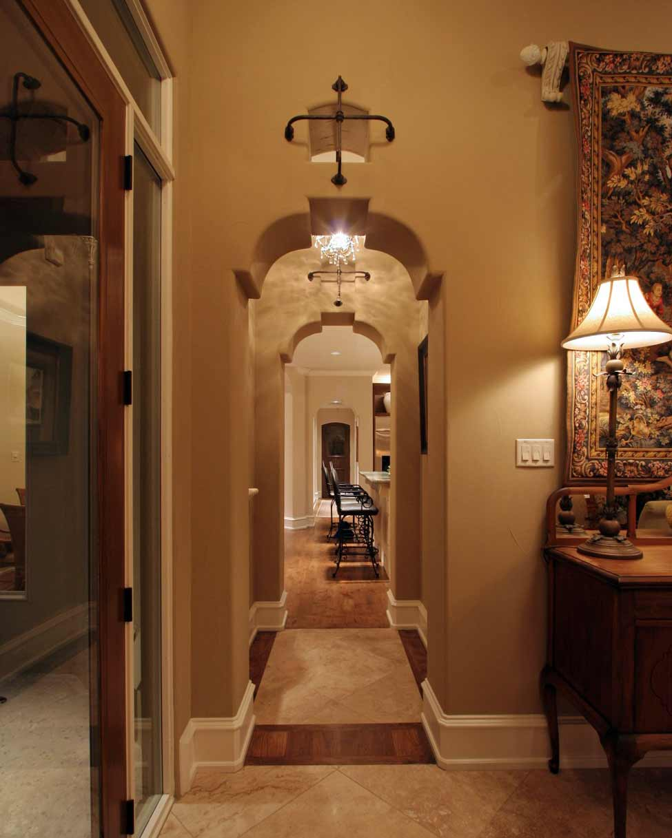 Spanish style corbel arches