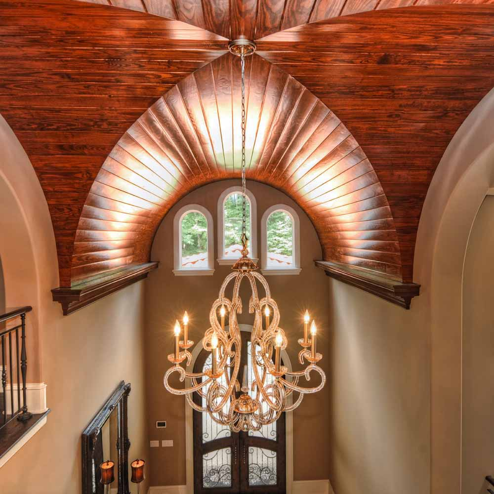 Wood Finished Groin Vault Ceiling