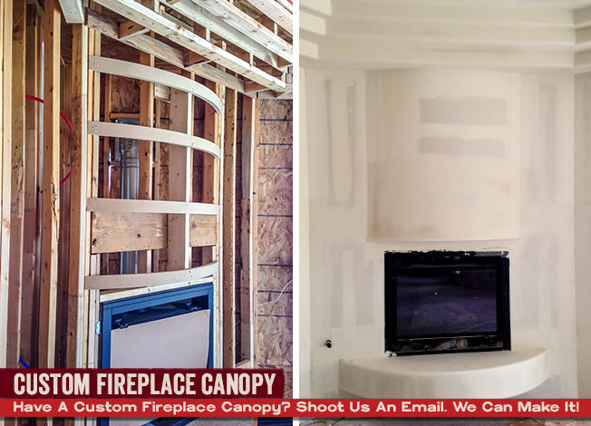 Custom Fireplace Canopy- Small, Rounded Canopy Hoods
