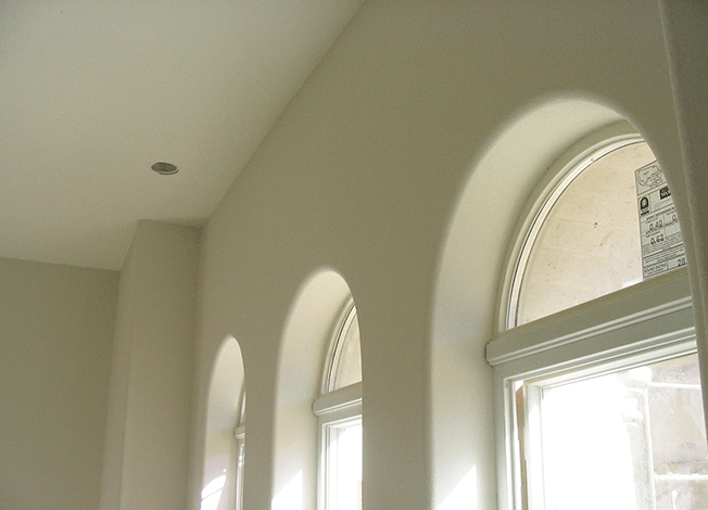 Arched window kits in a modern kitchen