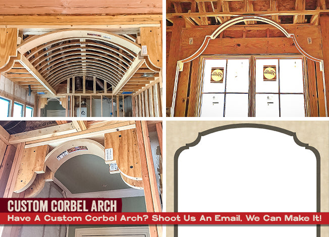 Corbel Arches go great in any area of the home