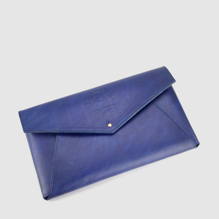 Bright Navy Envelope Clutch