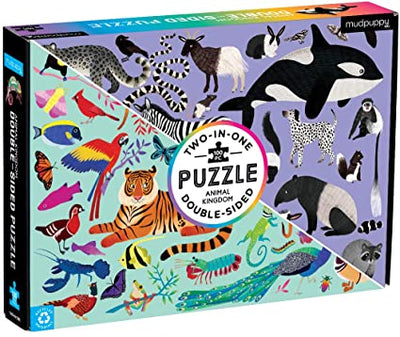 Puzzle doble 100 piezas Mundo Animal
