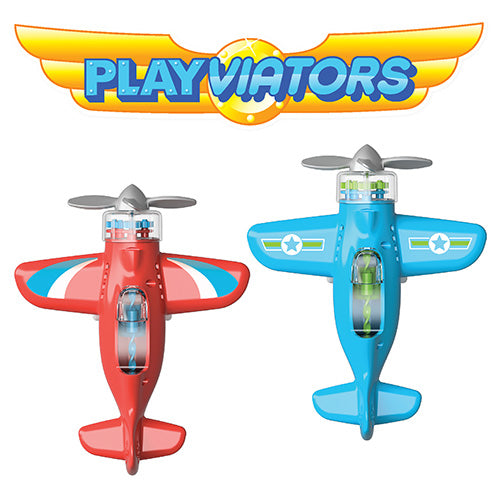 Avion Playviator azul