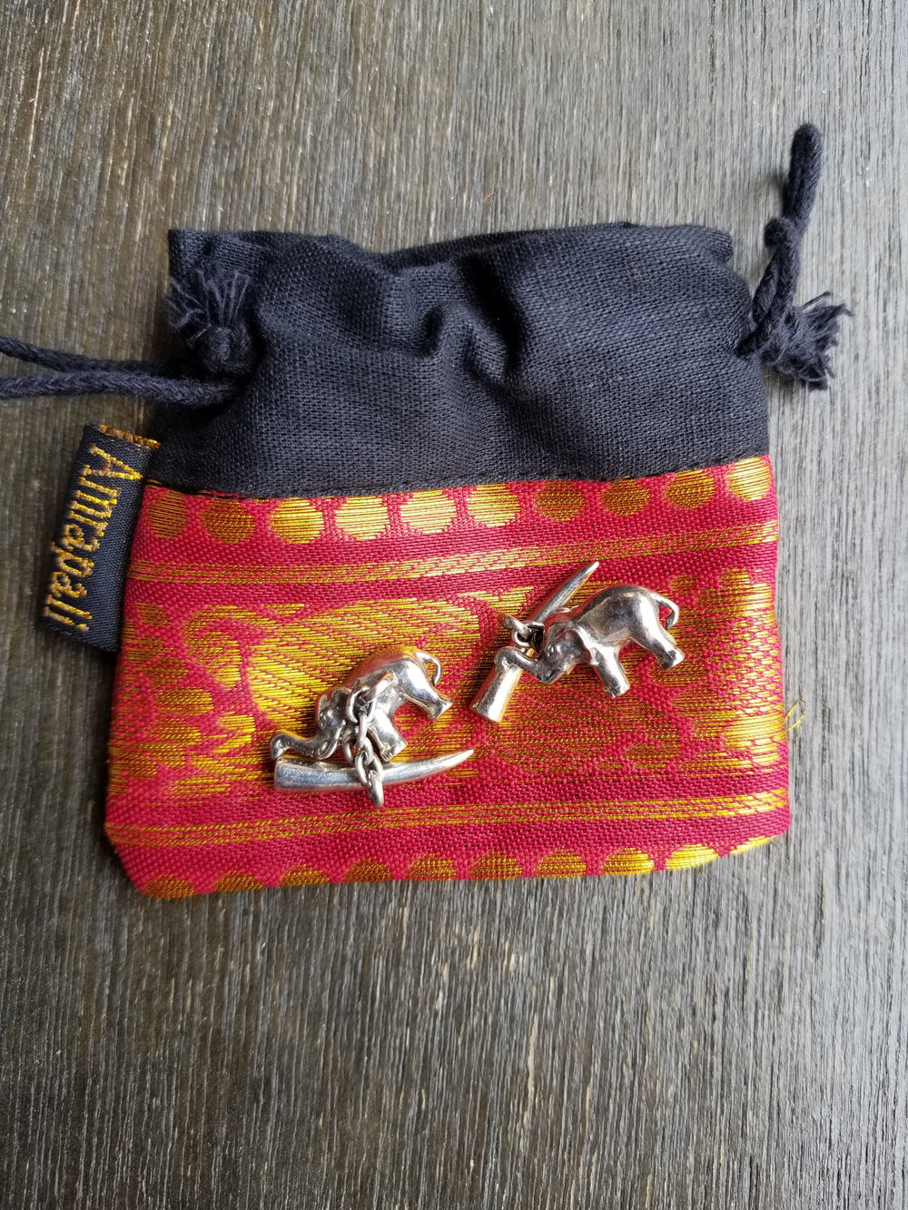 Buy Tribe Amrapali Silver Elephant Cufflinks