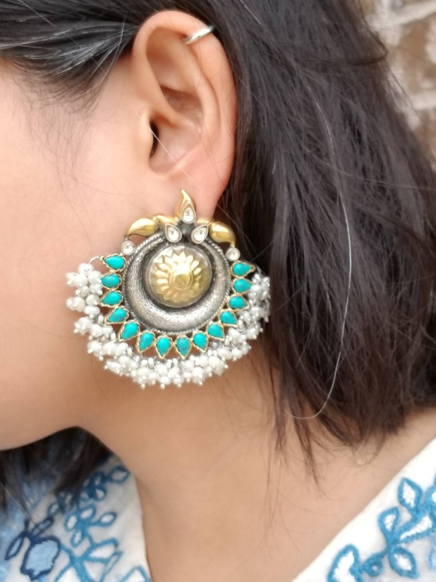 Buy Sangeeta Boochra Pearl Earrings on Sale