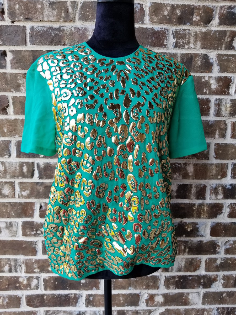 Buy Manish Arora Green Top On Sale