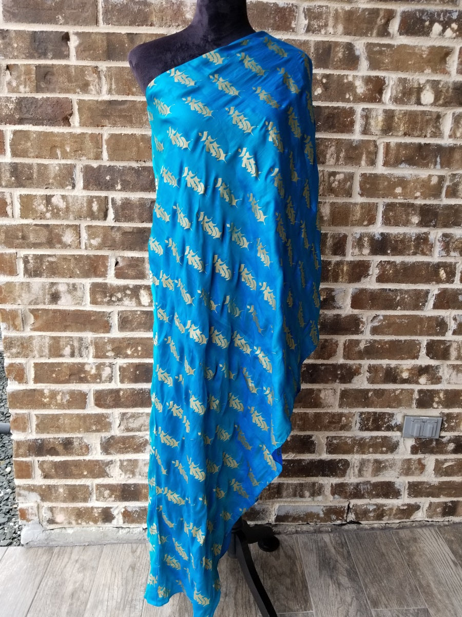 Masaba Blue Foil One Shouldered Kurta