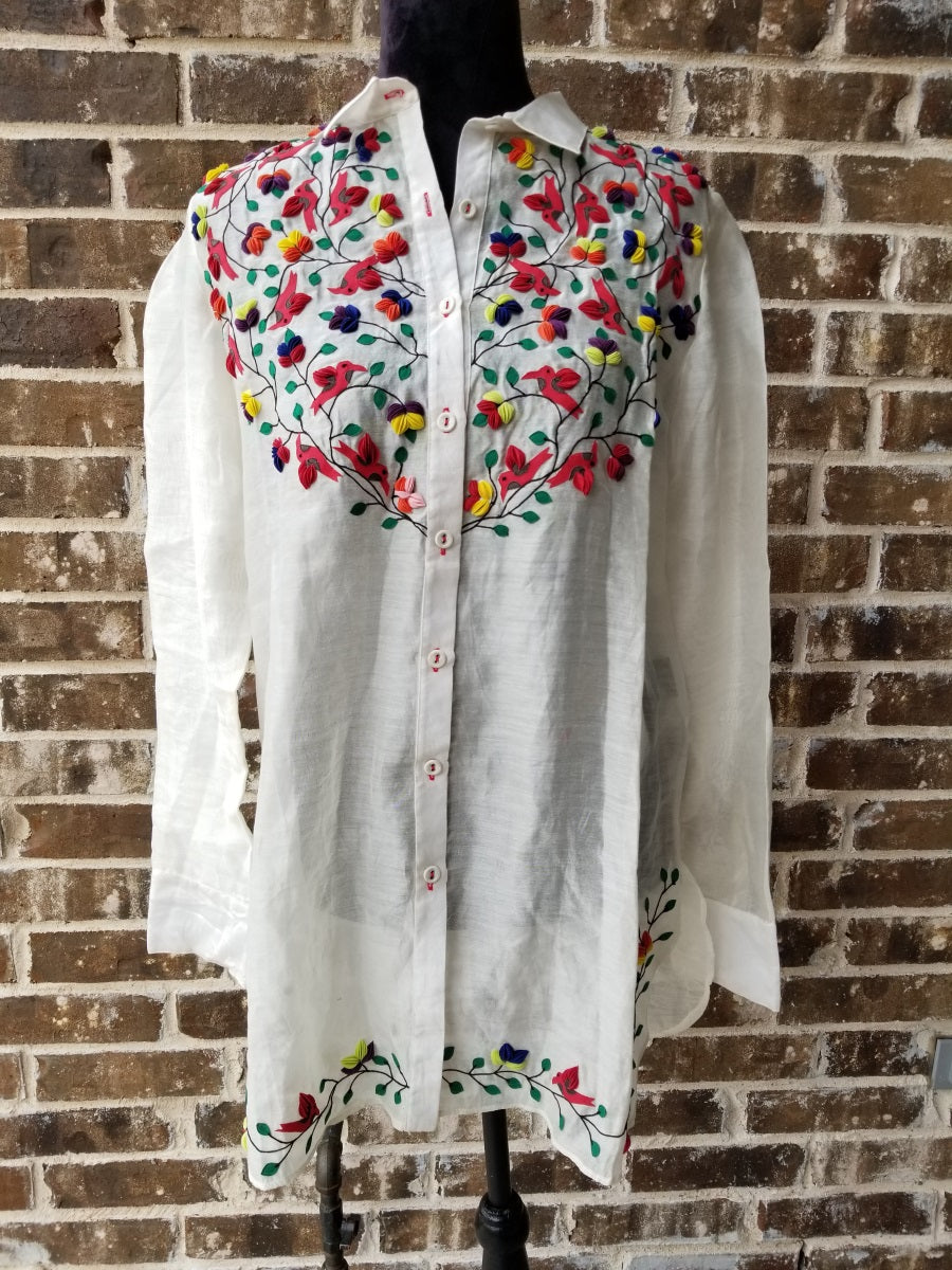 Rimzim Dadu Embroidered Shirt